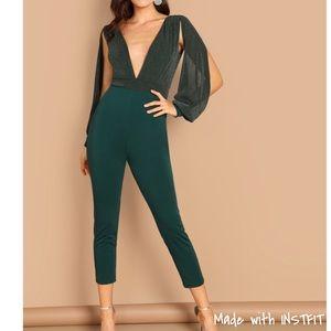 Pants - ✨Deep V Plunge Split Sleeve Jumpsuit ✨